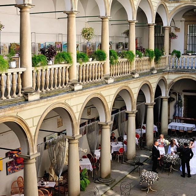 Italian patio in L'viv